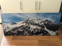 Snowy Mountains Canvas