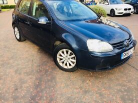 VOLKSWAGEN GOLF 1.6 FSI MATCH 56 PLATE 1 DOCTOR OWNER 6 SPEED FROM NEW ONLY 69000 MILES MOT 7 MONTHS