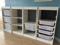 Storage unit for childrens room (or garage storage)