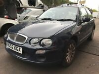 Rover 25 1.4 Petrol 2002 3dr Blue Breaking for spares