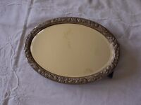 Silver dressing table mirror 1970s Has bracket for freestanding.