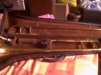 BEUSCHER ARISTOCRAT TROMBONE , a TOP LINE MODEL in EXCELLENT CONDITION with CASE