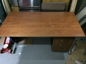 Large office desk with matching filing cabinet