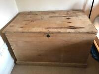 Very Old/ Rustic Wooden Chest