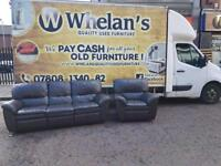 3&1 seater sofa in a brown leather all reclining £185
