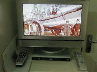 PANASONIC 15.2 INCH LCD TV TX-15LT2 WITH DIGITAL VISION AD-BEAV TV RECEIVER FREEVIEW BOX