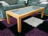Coffee Table - Frosted Glass Top £20 ONO