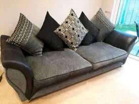 4 Seater Cushion back sofa