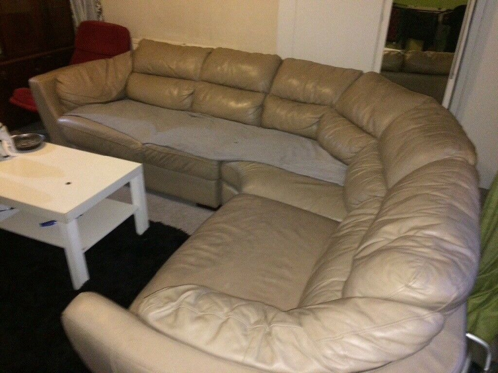 Second Hand Leather Corner Sofa In Greetland West