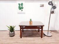 Rare G Plan 'Closed Tola' Vintage Medium Teak & Glazed Glass Compact Retro Coffee Table