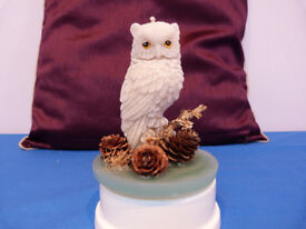 ornamental owl candle