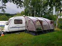 Sterling europa 600 4-6 berth lightweight caravan with motor mover and awning