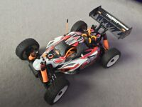 Rc car nitro hpi trophy buggy 3.5 v2 (as new condition)