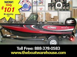 2016 lowe boats FS 1610 Merc 90HP Trailer Fish Finder Stereo Bo.