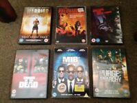 Collection of DVD's Shaun of the Dead, The Purge, MIB 3, Warrior