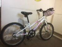 Good condition 20' girl bike with Halfords care plan for 6months