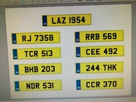 Cherished Undated UK Number Plates For Sale