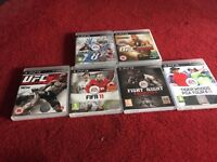 Play station 3 with 6 games 2 controllers