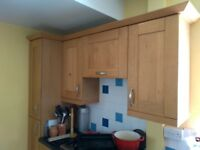 Range of B&Q Kitchen Units with Solid Oak doors & worktop