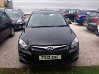 Low-mileage 2012 Black i30 for sale. FULL SERVICE HISTORY Only 2 owners from new. Clean & Economical