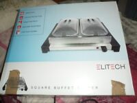 electric buffet server - warmer and 2 lidded dishes