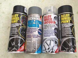 Alloy wheel spray paint kit black