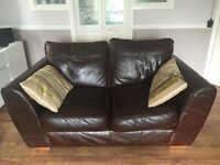 Fabulous two seater Next leather settee