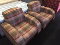 Pair stylish armchairs