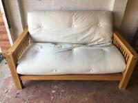 Solid oak sofa bed