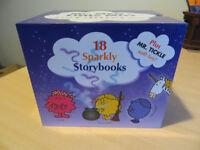 Mr. Men & Little Miss Books: The Glitter Box (18 sparkly books plus Mr. Tickle soft toy)
