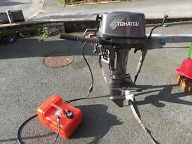 9.8hp tohatsu 2 stroke light weight outboard 2005