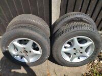 4 Wheels And Tyres For Honda LSI/ Mazda MX5 MK1