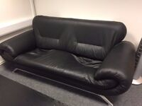 FREE Black leather effect 3 seater sofa