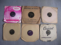 "Job lot 10"" 78rpm records Cole Crosby Fisher Laine Lanza Orioles Sinatra 60+ as listed, £50 ono"