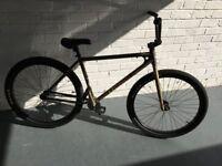Fairdale Taj Hot Rod bike with patina BMX jump adult size single speed fixie