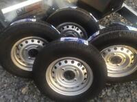 Trailer wheels Ifor Williams horse box wheels tyres 165/r13 4 stud
