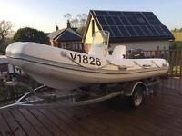 4.2 m rib speed boat with 40 hp Tohatsu outboard
