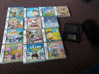 Nintendo ds and 13 games