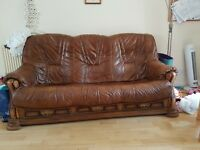 2 and 3 seater leather sofas