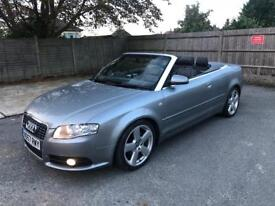 2007 /57 Audi A4 S-Line Cabriolet TDi, HPi Clear, £3000 No Offers!