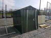 GALVANISED STEEL FRAME GARDEN SHEDS WITH POLYSETER COATED SHEETING
