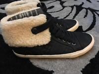 Next size 7 hi top trainers