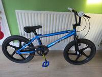 Zinc Backbone 20 Inch BMX Bike. NEW, BARGAIN,ARGOS PRICE £199.99, SALE £89.99 OUR PRICE £45.00 blue