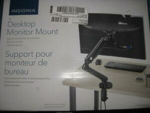 Insignia Full Motion Monitor Arm / Desktop Computer / Display Mount Bracket. Sturdy. Strong and Durable. Hold upto 9KG