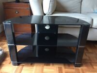 Black / glasss tv dvd stand