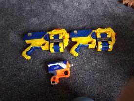 x3 NERF guns