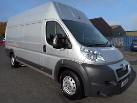 FINANCE ME!! NO VAT!! Peugeot boxer 2.2 extra long wheel base extra high roof only 58k from new!!