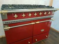 LACANCHE CLUNY 100CM RANGE COOKER IN RED AND BRASS