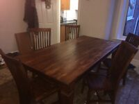 Mahogany style table and chairs