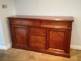 Dining room sideboard dark wood excellent condition. £250 Buyer to collect